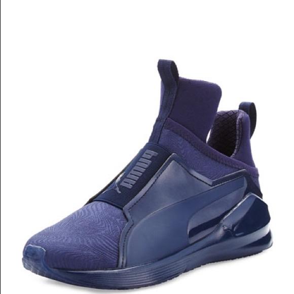 Navy Blue Puma Hightop Sneakers. M 5aaeb380a6e3eac34c08177e c5ffc3f8c